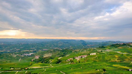 948424058 istock photo Vineyards in the Langhe, a hilly area mostly based on vine cultivation and well known for the production of Barolo wine. Province of Cuneo, Piedmont, Italy 948417628