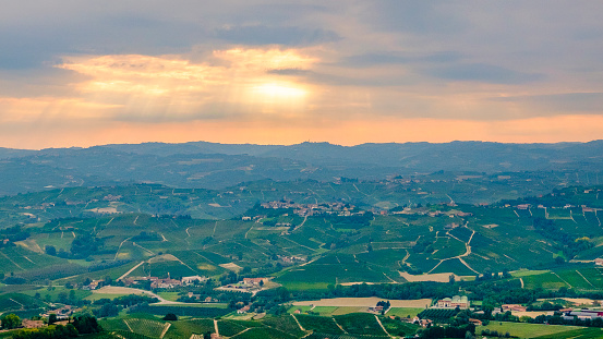 948424058 istock photo Vineyards in the Langhe, a hilly area mostly based on vine cultivation and well known for the production of Barolo wine. Province of Cuneo, Piedmont, Italy 948424812