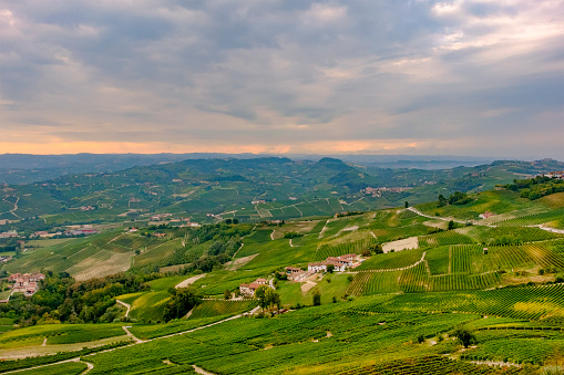 948424058 istock photo Vineyards in the Langhe, a hilly area mostly based on vine cultivation and well known for the production of Barolo wine. Province of Cuneo, Piedmont, Italy 948425352