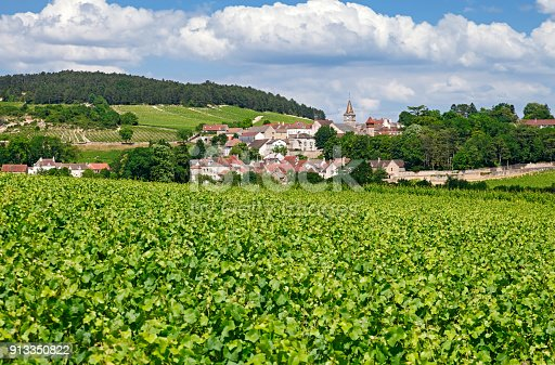 Volnay, small village near Beaune, Burgundy France