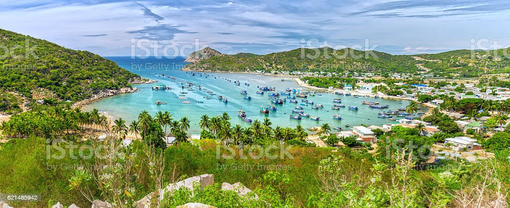 Vinh Hy Bay, Ninh Thuan, Vietnam photo libre de droits
