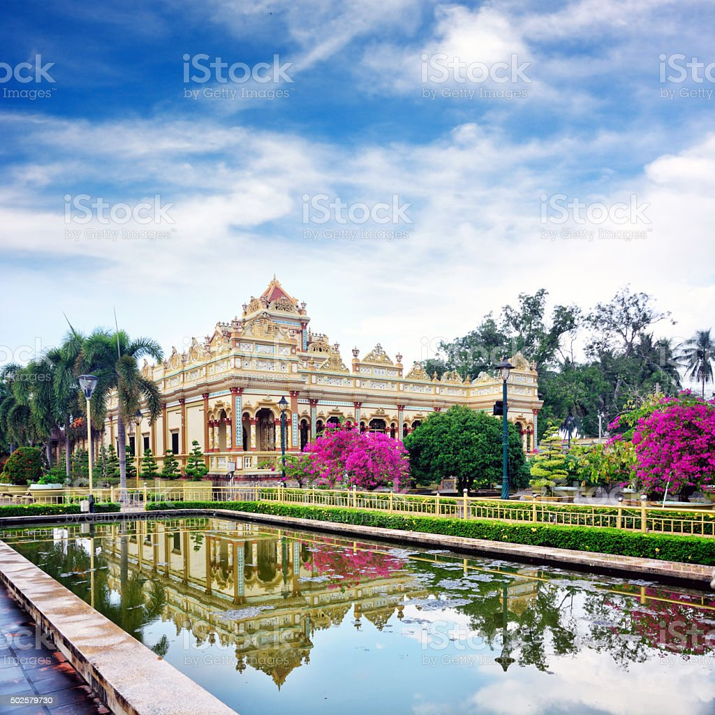 Vinh Trang Temple stock photo