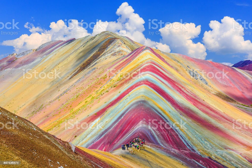 Vinicunca, Cusco Region, Peru. stock photo