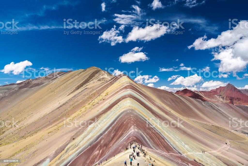 Vinicunca Rainbow Mountain liegt zwischen Cusco und Puno in Peru. – Foto