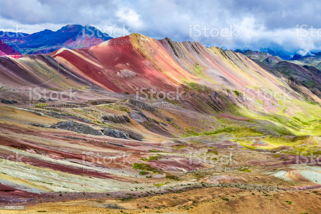 Vinicunca, Rainbow Mountain - Peru stock photo