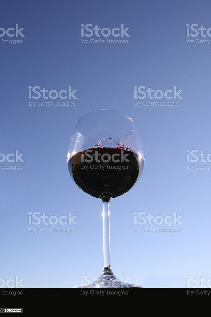 Vino Solo - One Glass of red Wine stock photo