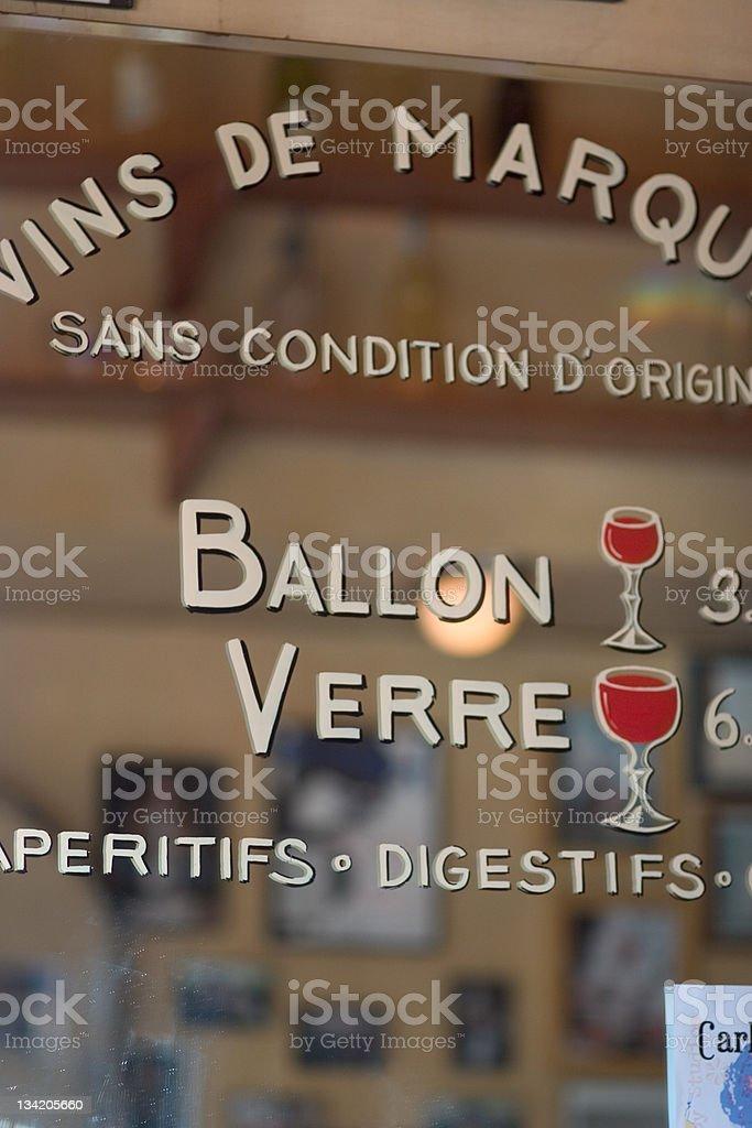 Vins de marque - fine wines royalty-free stock photo