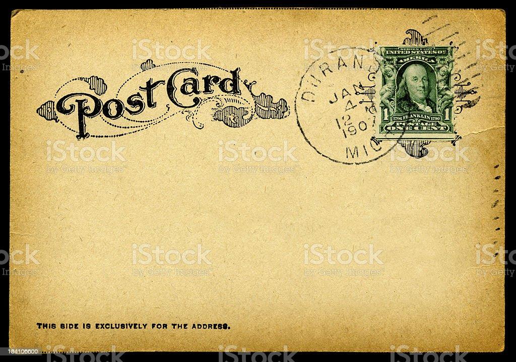 Vintage 1907 Postcard (Hi Res) royalty-free stock photo