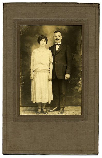 Vintage 1920's Photo of a Couple stock photo