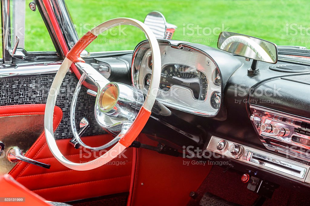 Vintage 1950s American Car Interior Stock Photo More Pictures Of