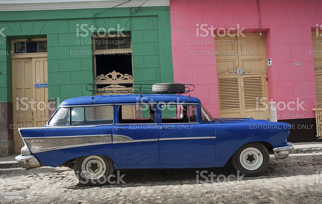 Vintage 1950s Chevrolet Bel Air Station Wagon stock photo