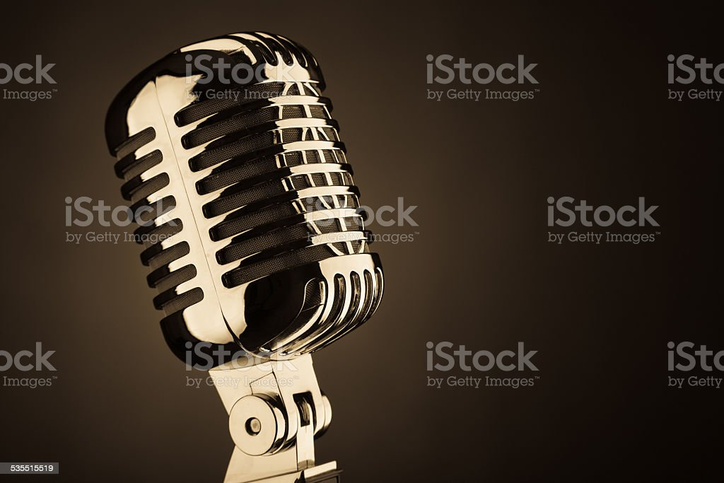 Vintage 1950s microphone stock photo