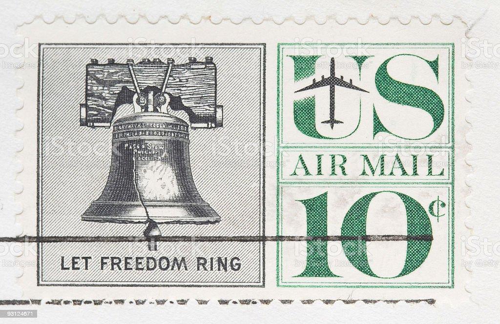 Vintage 1960 Canceled Us Stamp Let Freedom Ring Stock Photo