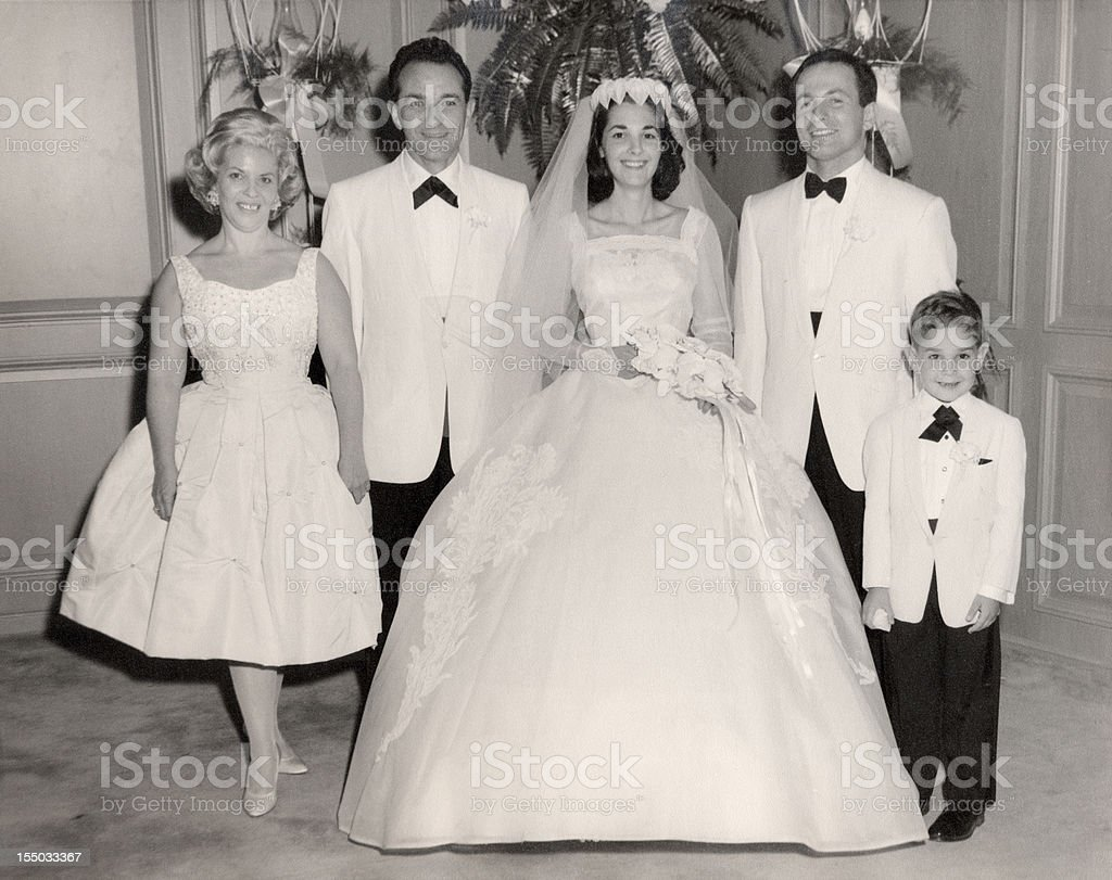 Vintage 1960 Wedding Family Portrait Stock Photo Amp More