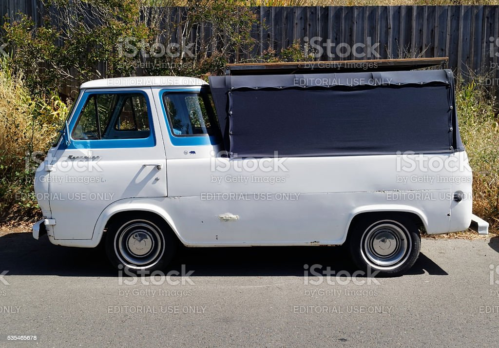 Vintage 1960s Ford Econoline stock photo