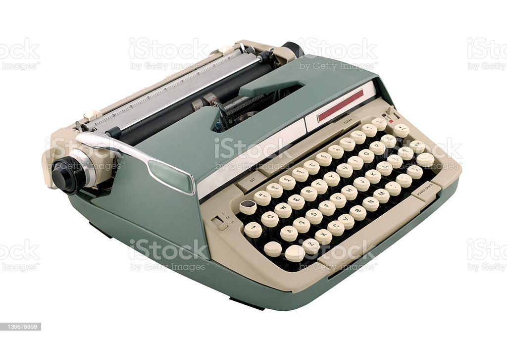 Vintage 1960s Manual Typewriter royalty-free stock photo