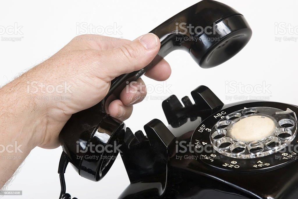Vintage 1960s telephone stock photo