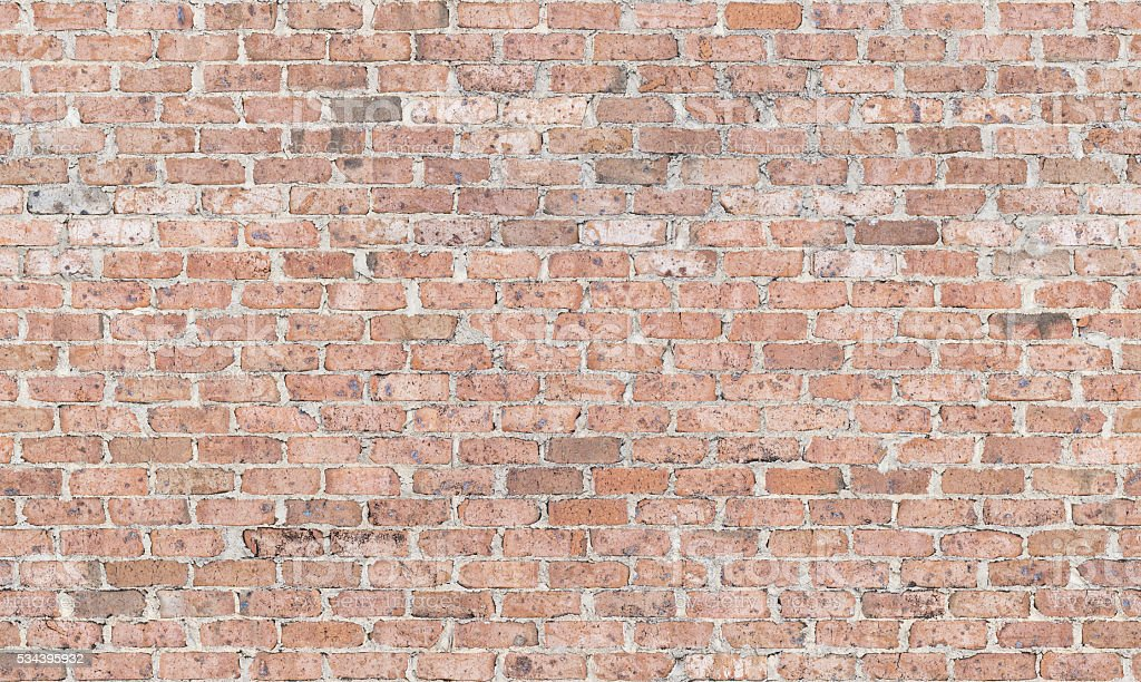 Vintage 1970s Brick Wall stock photo