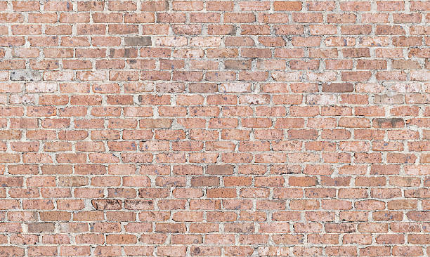 Vintage 1970s Brick Wall stock photo