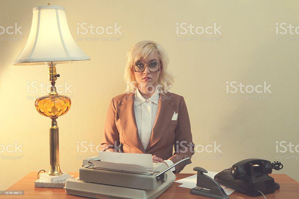 Vintage 1970's Secretary stock photo