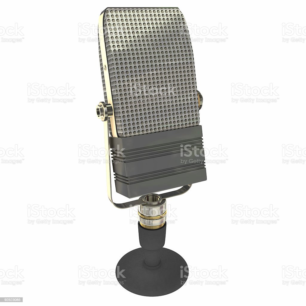 Vintage 30s Microphone (Isolated) royalty-free stock photo