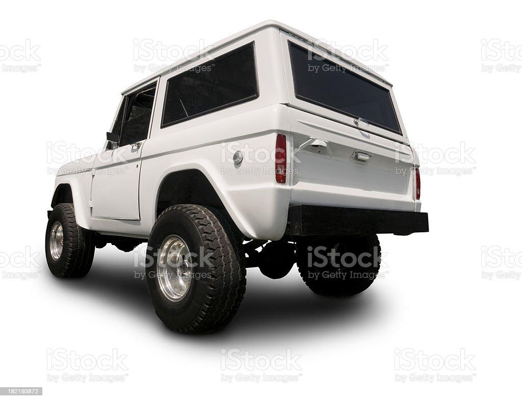Vintage 4x4 Bronco SUV royalty-free stock photo