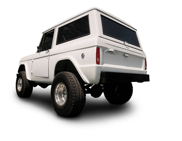 Vintage 4x4 Bronco SUV stock photo