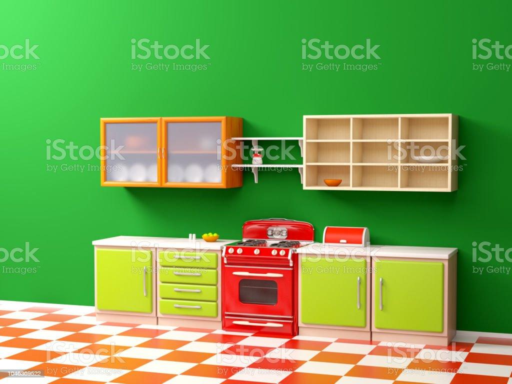 Vintage 21er Jahre Küche Flach Stockfoto und mehr Bilder von 1921 ...