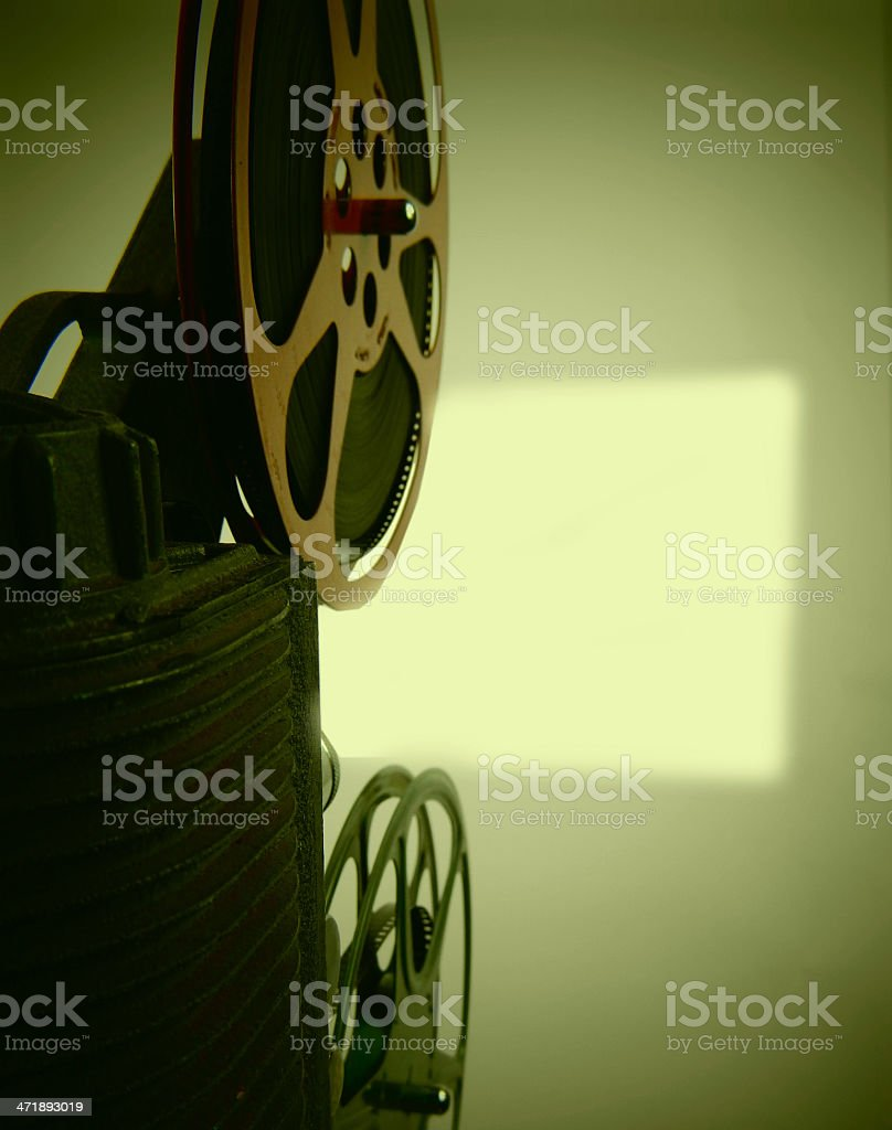 Vintage 8mm Movie and Screen stock photo