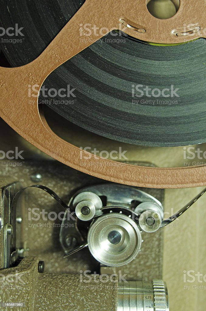 Vintage 8mm Movie  Projector Gears stock photo