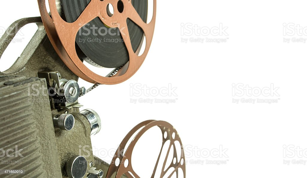 Vintage 8mm Movie  Projector with a clipping path stock photo
