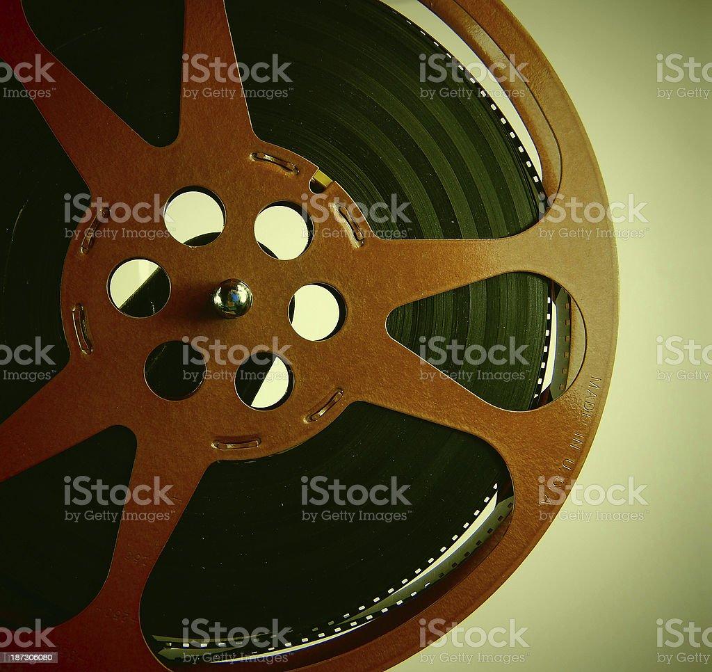 Vintage 8mm Movie Reel stock photo