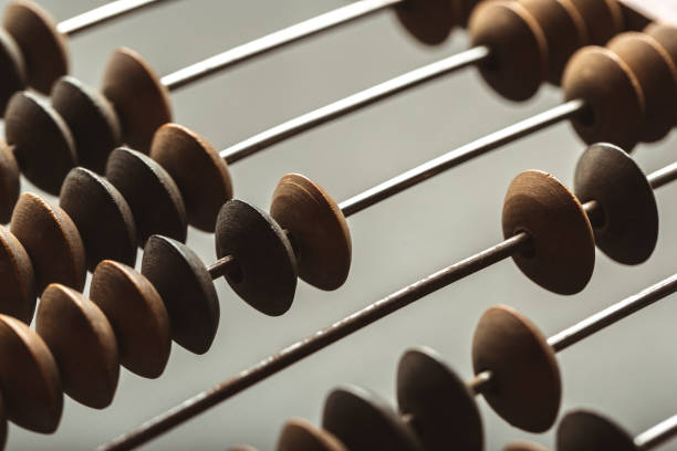 Vintage abacus close up Vintage abacus close up abacus stock pictures, royalty-free photos & images