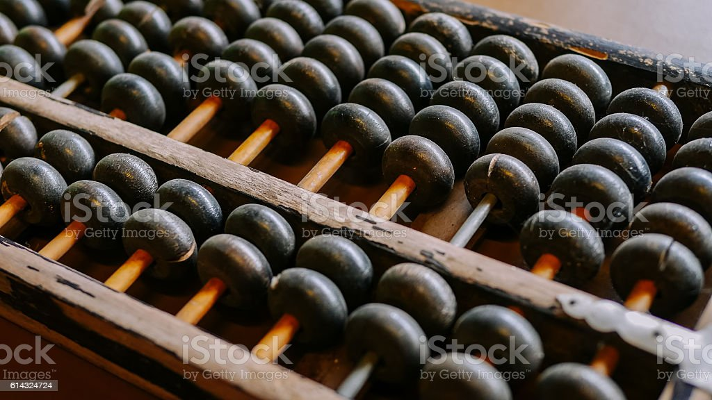 Vintage abacus on table. close-up – Foto