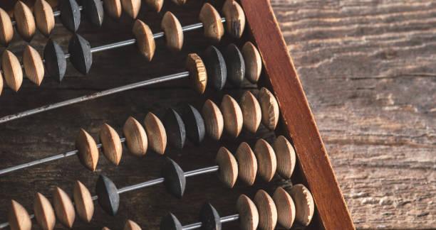 Vintage abacus on wood background - foto stock