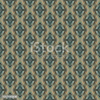 1141967162 istock photo Vintage abstract and geometrical seamless pattern 1057490306