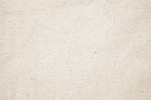 istock Vintage abstract Hessian or sackcloth fabric or hemp sack texture background. Wallpaper of artistic wale linen canvas. Blanket or Curtain of cotton pattern with copy space for text decoration. 1076490016