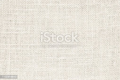 1044099896 istock photo Vintage abstract Hessian or sackcloth fabric or hemp sack texture background. Wallpaper of artistic wale linen canvas. 1132916843