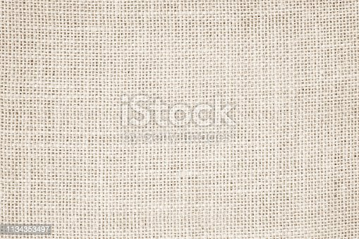 1044099896 istock photo Vintage abstract Hessian or sackcloth fabric or hemp sack texture background. Wallpaper of artistic wale linen canvas. 1134353497