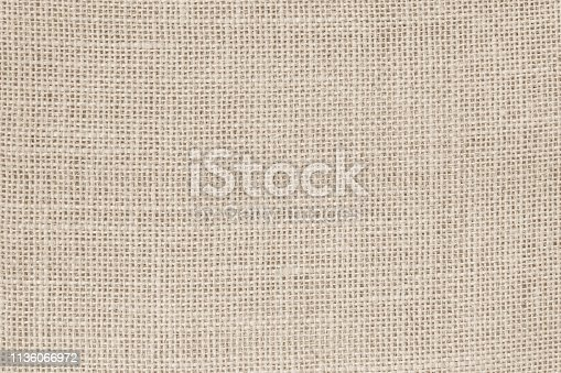 1044099896 istock photo Vintage abstract Hessian or sackcloth fabric or hemp sack texture background. Wallpaper of artistic wale linen canvas. 1136066972