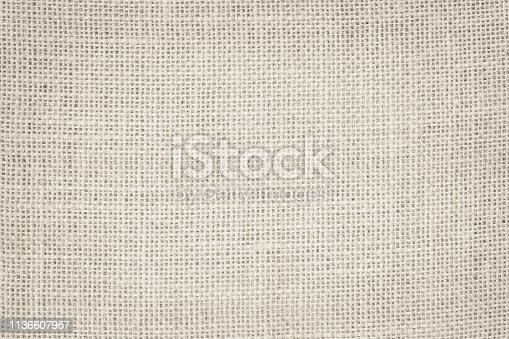 1044099896 istock photo Vintage abstract Hessian or sackcloth fabric or hemp sack texture background. Wallpaper of artistic wale linen canvas. 1136607957