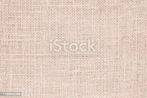 1044099896 istock photo Vintage abstract Hessian or sackcloth fabric or hemp sack texture background. Wallpaper of artistic wale linen canvas. 1136945266