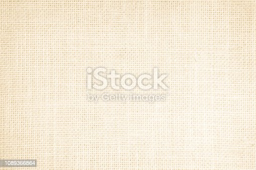 1044099896 istock photo Vintage abstract Hessian or sackcloth fabric texture background. Wallpaper of artistic wale linen canvas. Blanket or Curtain of cotton pattern background with copy space for text decoration. 1089366864