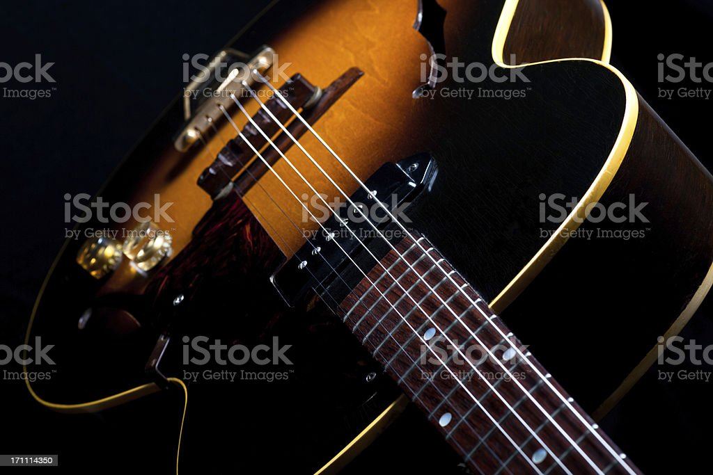 Vintage Acoustic Electric Guitar royalty-free stock photo