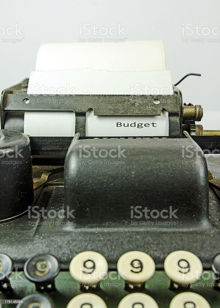 Vintage  Adding Machine... Budget royalty-free stock photo