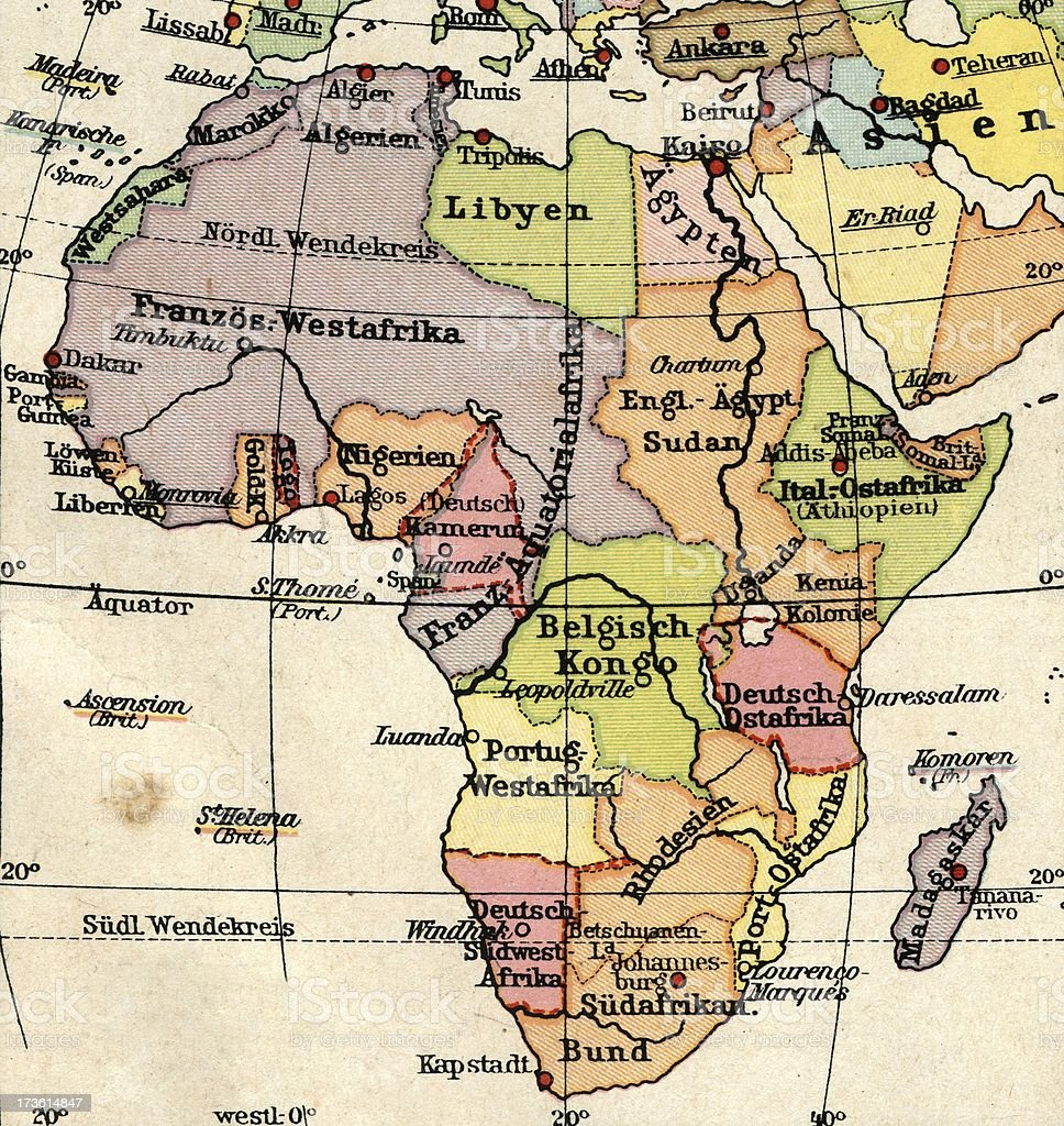 Vintage Africa Map royalty-free stock photo
