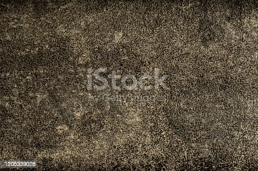 121305595 istock photo Vintage aged old paper or old leather. Light grey and black color. Original background or texture. 1205339028