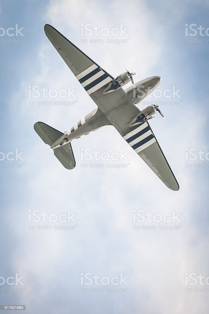 vintage aircraft stock photo
