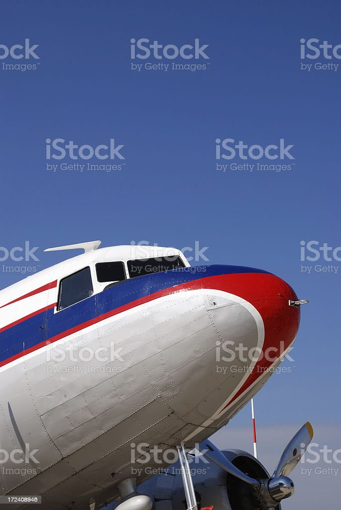 vintage airliner royalty-free stock photo