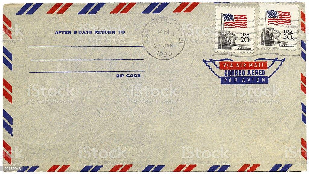 Vintage Airmail Briefumschlag Von Usa Stock-Fotografie und mehr ...